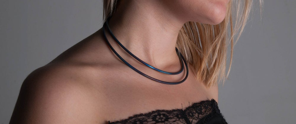 "Image of Hand Forged Titanium ""Torq"" Necklace"
