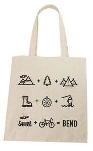 Image of  Bend Oregon Equation Lightweight Cotton Tote Bag