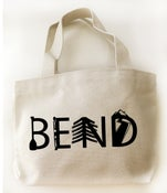 Image of Bend Oregon Letters Small Canvas Tote Bag