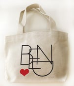 Image of Bend Oregon Heart Small Canvas Tote Bag