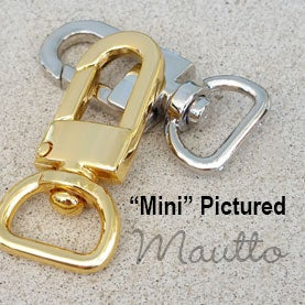 Image of Clips for Bag or Luggage Tags - Various Sizes - Attachable Gold or Nickel #16 - Handbag Accessory