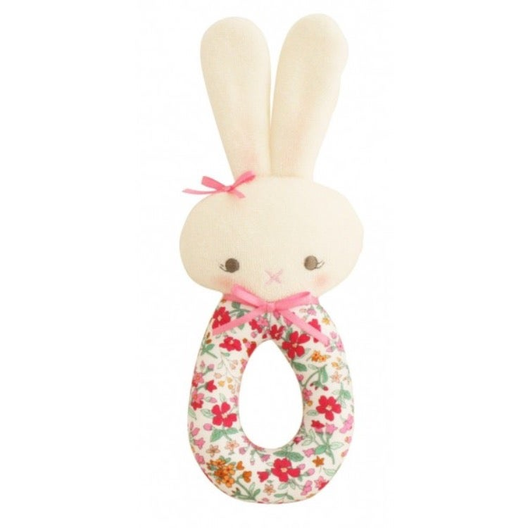 Image of Alimrose Floral Bunny Hand Rattle