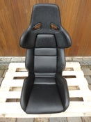 Image of 1x Genuine RECARO A8 Black Leather Hardback Race Seat VERY RARE Porsche Audi VW
