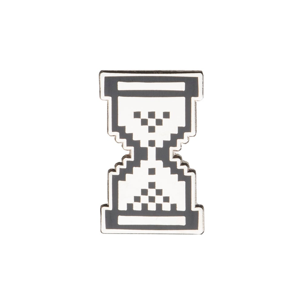 "Image of Passive Aggressive Hourglass 1.25"" Lapel Pin"