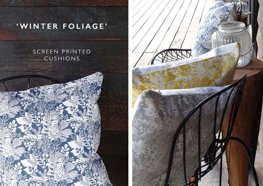 Image of Winter Foliage - Cushion Covers