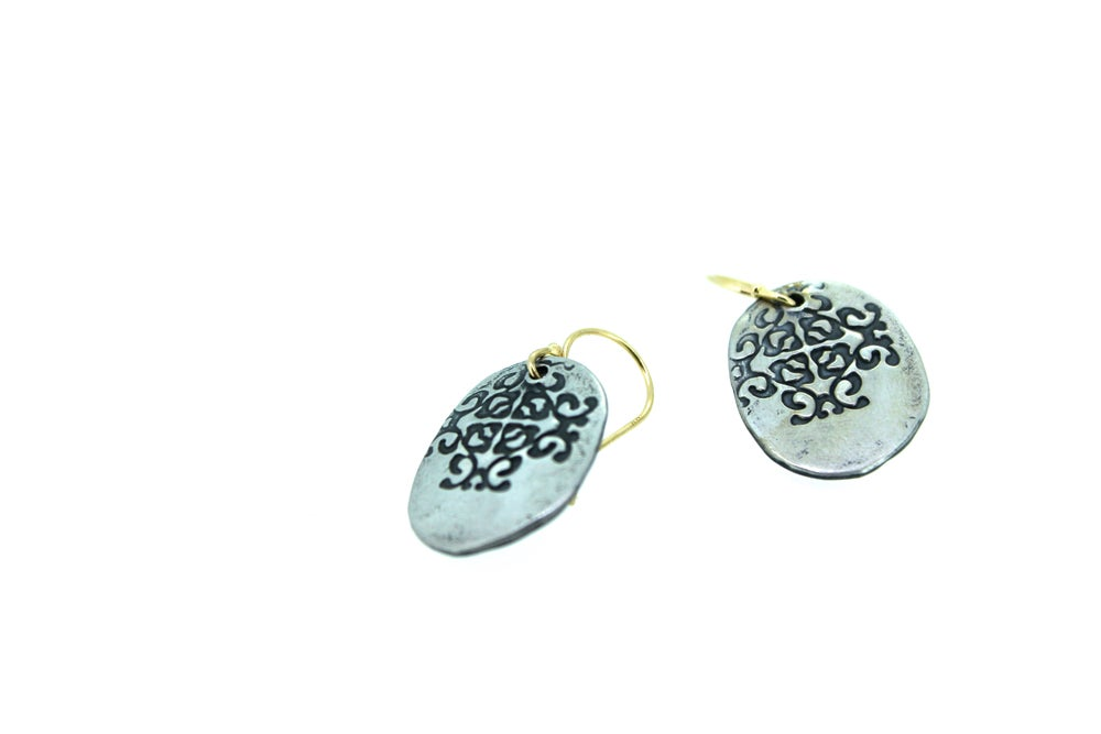 Image of love talisman dangle earrings . E-c37