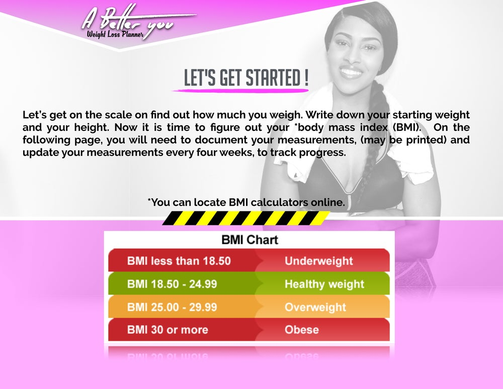 "Image of **SALE** ""A BETTER YOU"" WORKOUT PLANNER *NEW*"