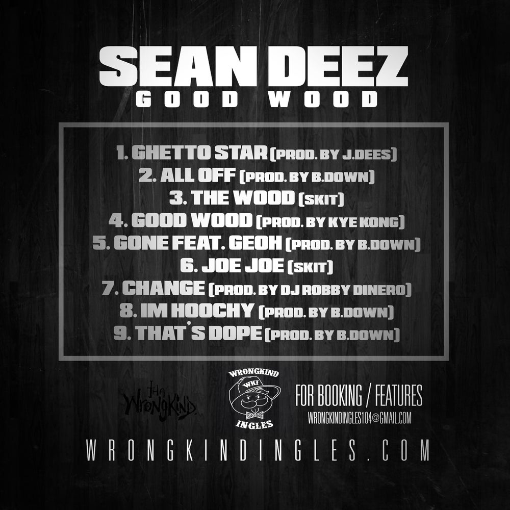 "Image of ""Good Wood"" EP by Sean Deez"