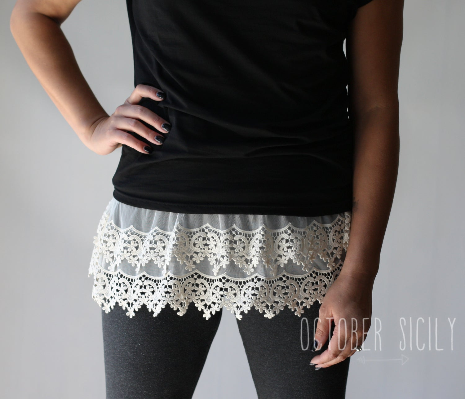 Image of Lace Top Shirt Extender *Style 6* Small-4XLarge
