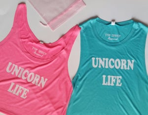 Image of Unicorn Life muscles & crop tanks