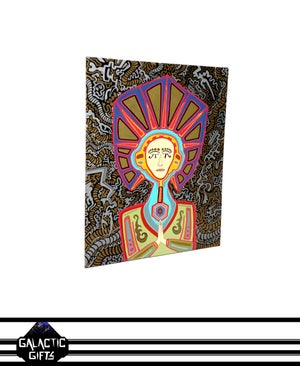 "Image of Cosmic Architect ""Genetic Goddess"" Painting"