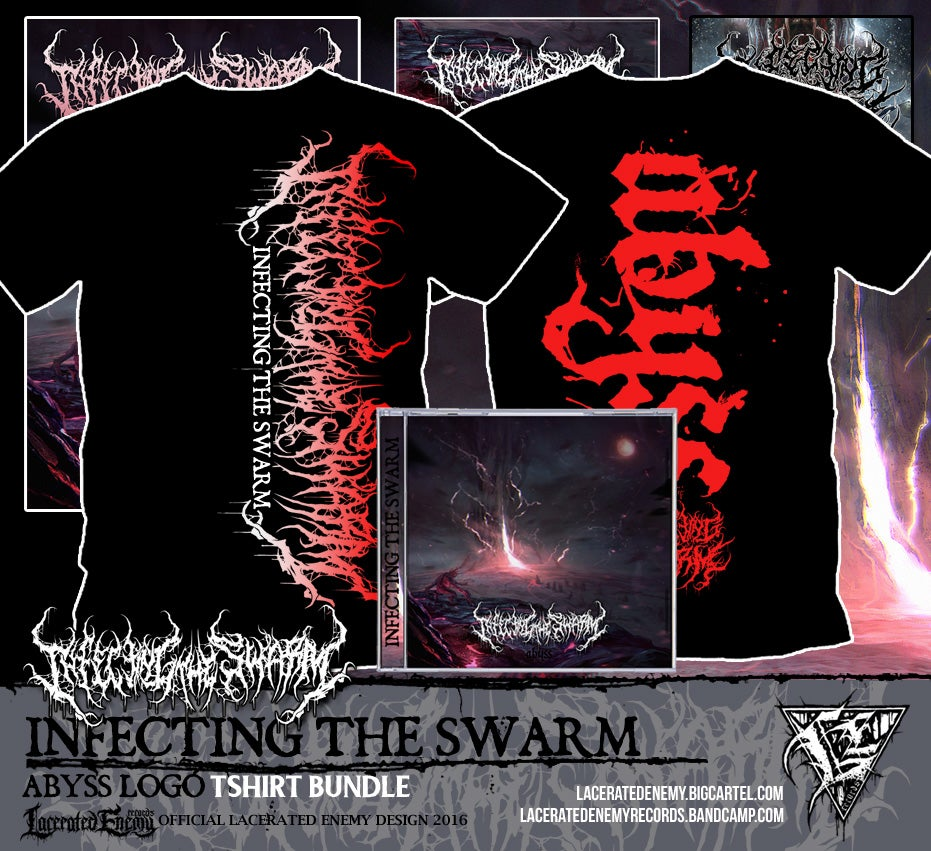 INFECTING THE SWARM - Abyss Logo Tshirt CD / Digipack Bundle