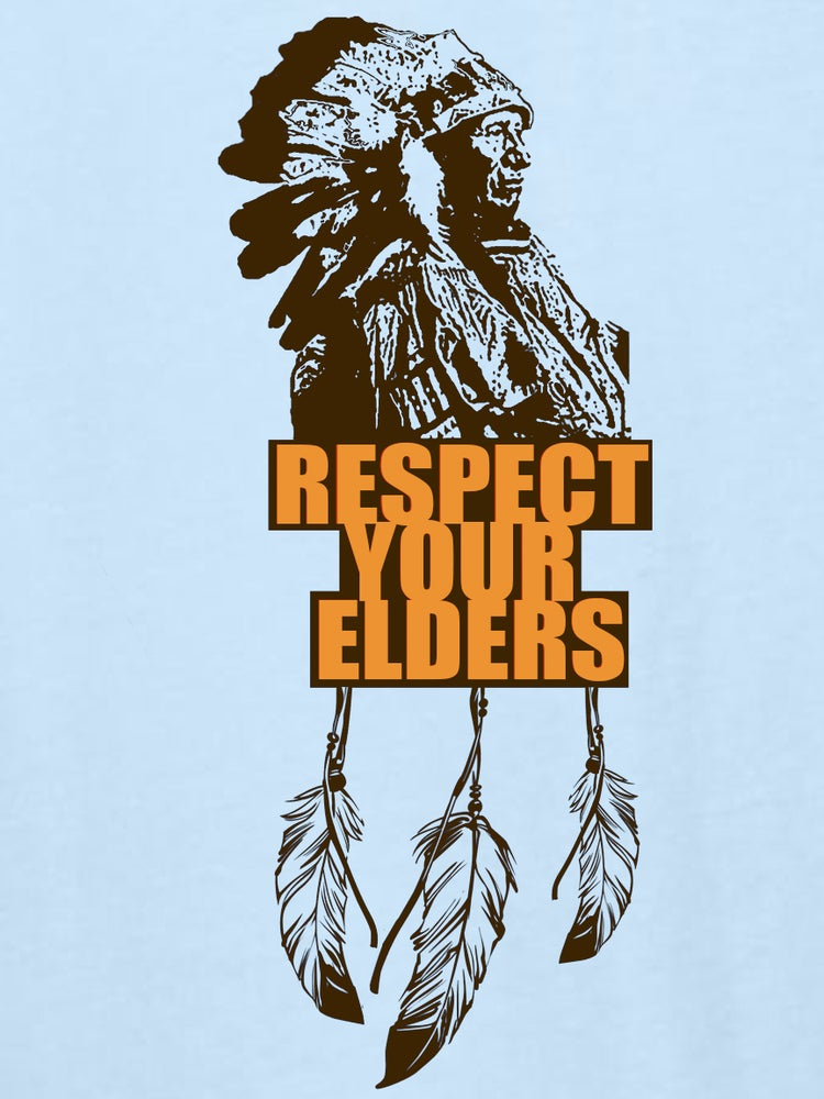 Image of BABY BLUE- RESPECT YOUR ELDERS CLASSIC T ORIGINAL