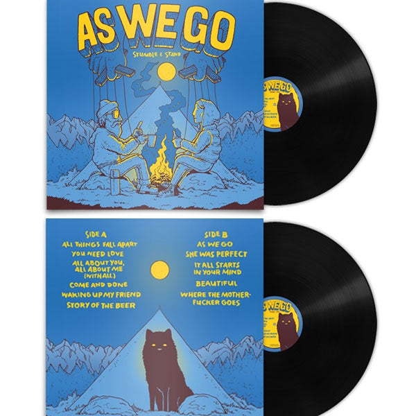 """Image of LP """"Stumble & Stand"""" - black, blue or red vinyl"""