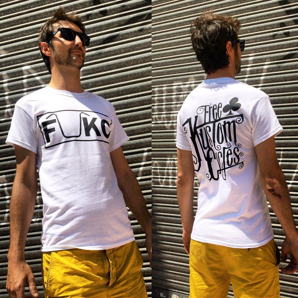 Image of FUKC WHITE T-SHIRT MAN