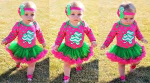 Image of So Lucky Pink & Green St. Patrick's Day Shamrock Tutu Onesie, Baby Girl, Polka Dot, Shamrock