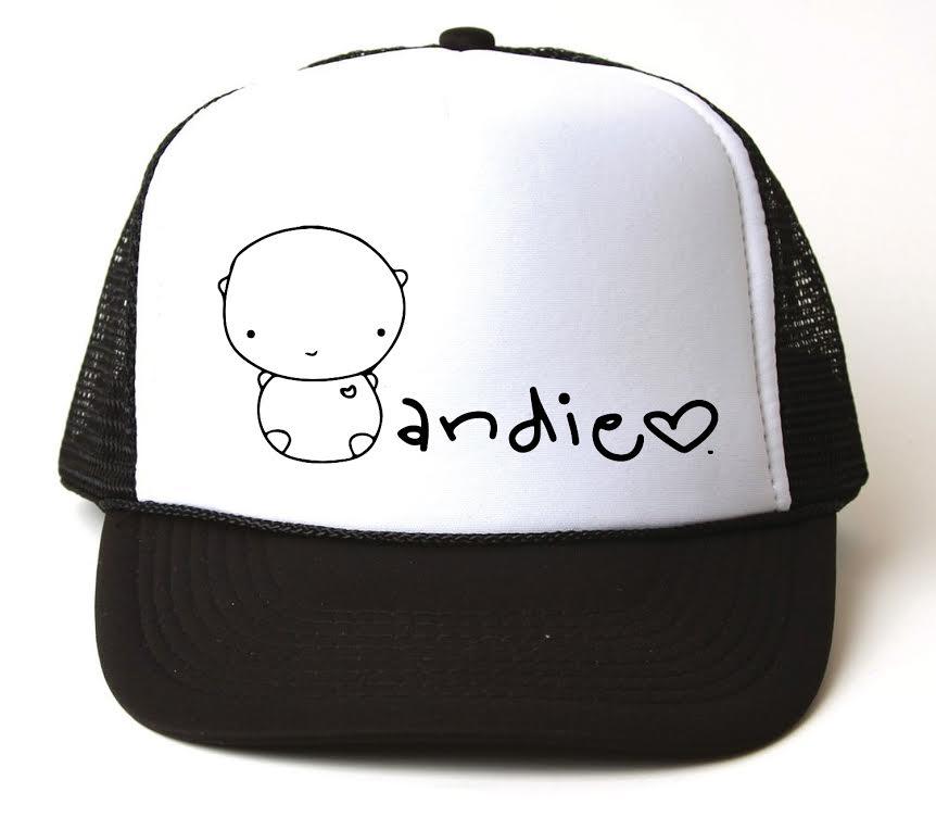 Image of ANDIE bear black trucker hat