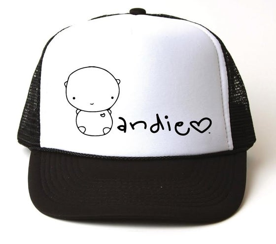 Image of ANDIE bear black trucker hat