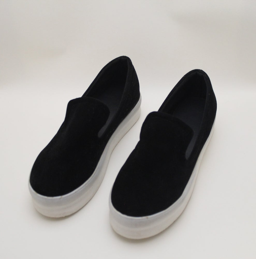 Image of Faux Suede Slip Ons (BLK)