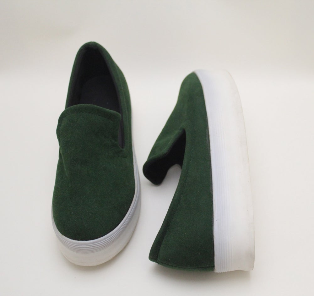 Image of Faux Suede Slip Ons (GRN)