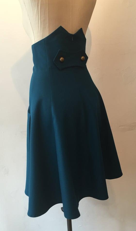 Image of High waisted flare skirt