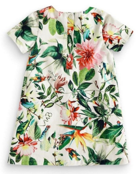 Image of flower print baby girl dress
