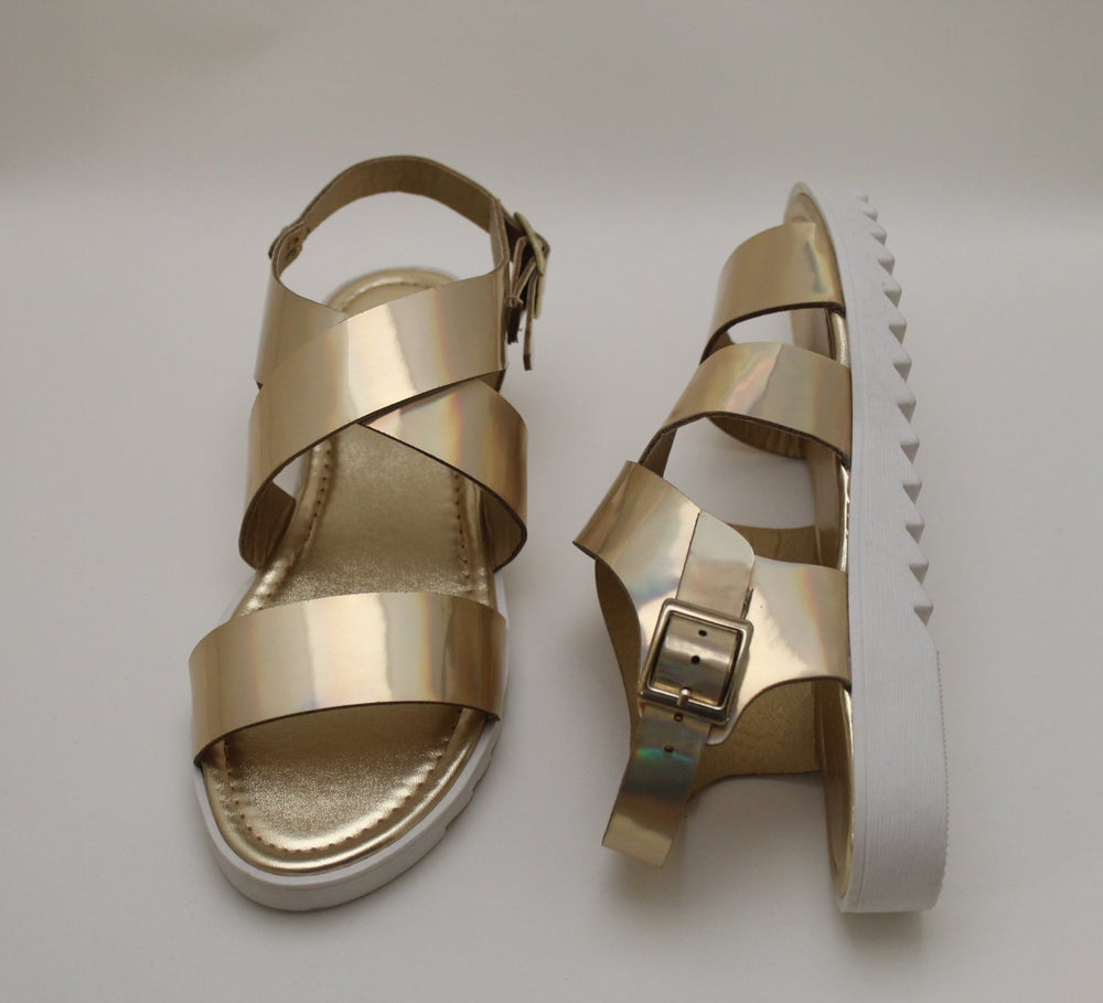 Image of Rocket Criss Cross Open Toe Sandals