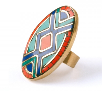 Image of Oval Mosaic Ring