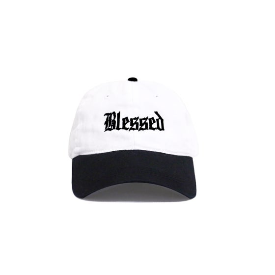 Image of BLESSED OE 6-PANEL (BLACK/WHITE)