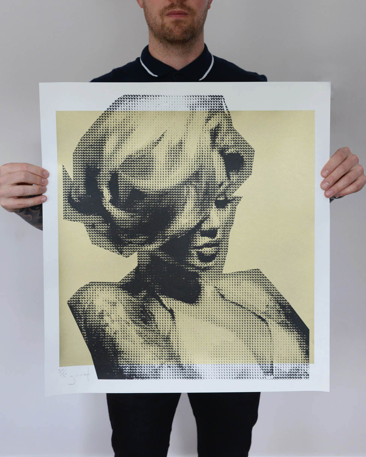 Image of Extremely Limited Hand Pulled Screen Print 'Becky Gold Edition'