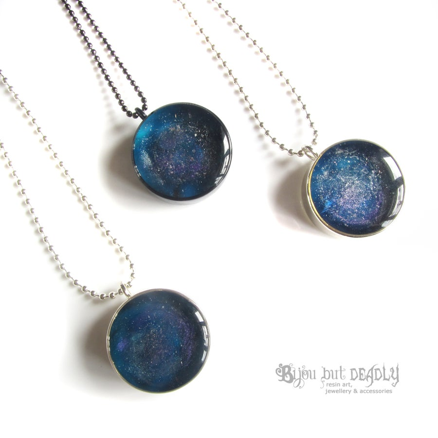 Image of Blue Nebula Resin Pendant