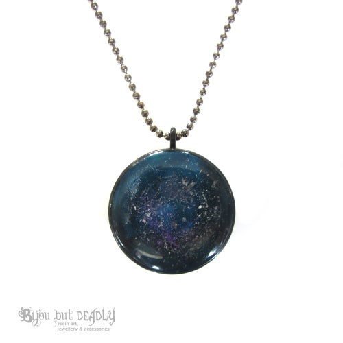 Image of Blue Nebula Resin Pendant