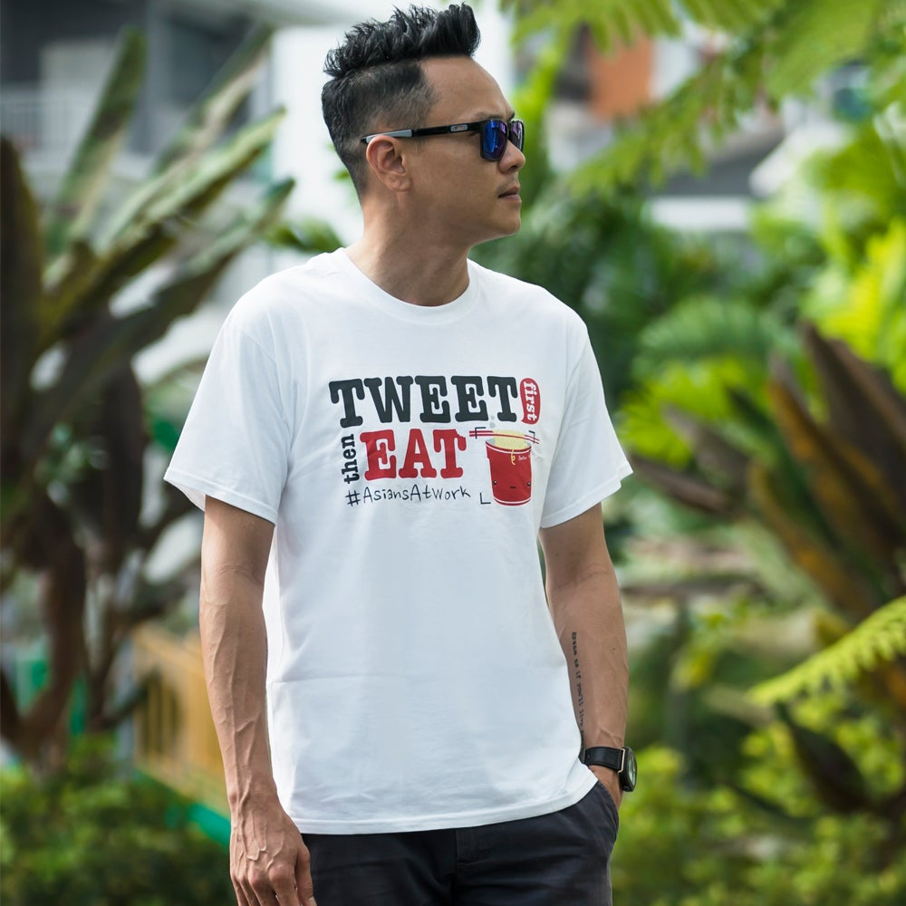 Image of Tweet First Eat Later #AsianAtWork Unisex Tee