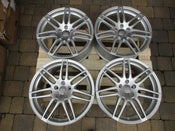 "Image of Genuine Audi A6 C6 Le Mans RS4 Twin Spoke 19"" 5x112 Alloy Wheels"