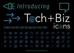 Image of Tech+Biz-Icons Font Set