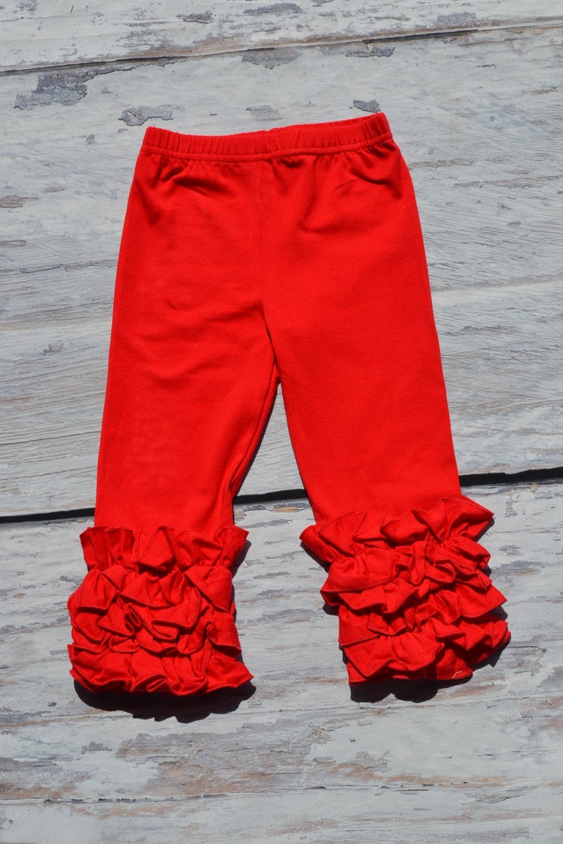 Infantile Iced Ruffle Leggings In Five Fall Colors Baby