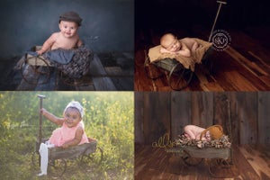 Image of Metal Wagon - Newborn Toddler Prop - NEW - Vintage Style - SAVE $30!!