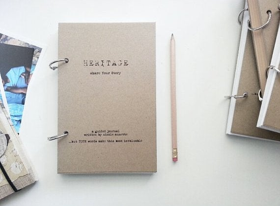 Image of HERITAGE Guided Handmade Journal-Share Your Legacy-Take Action Series-Guided Journal-TAH