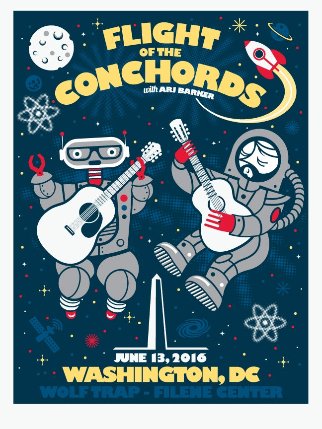 F4d Studios Flight Of The Conchords Washington Dc Poster
