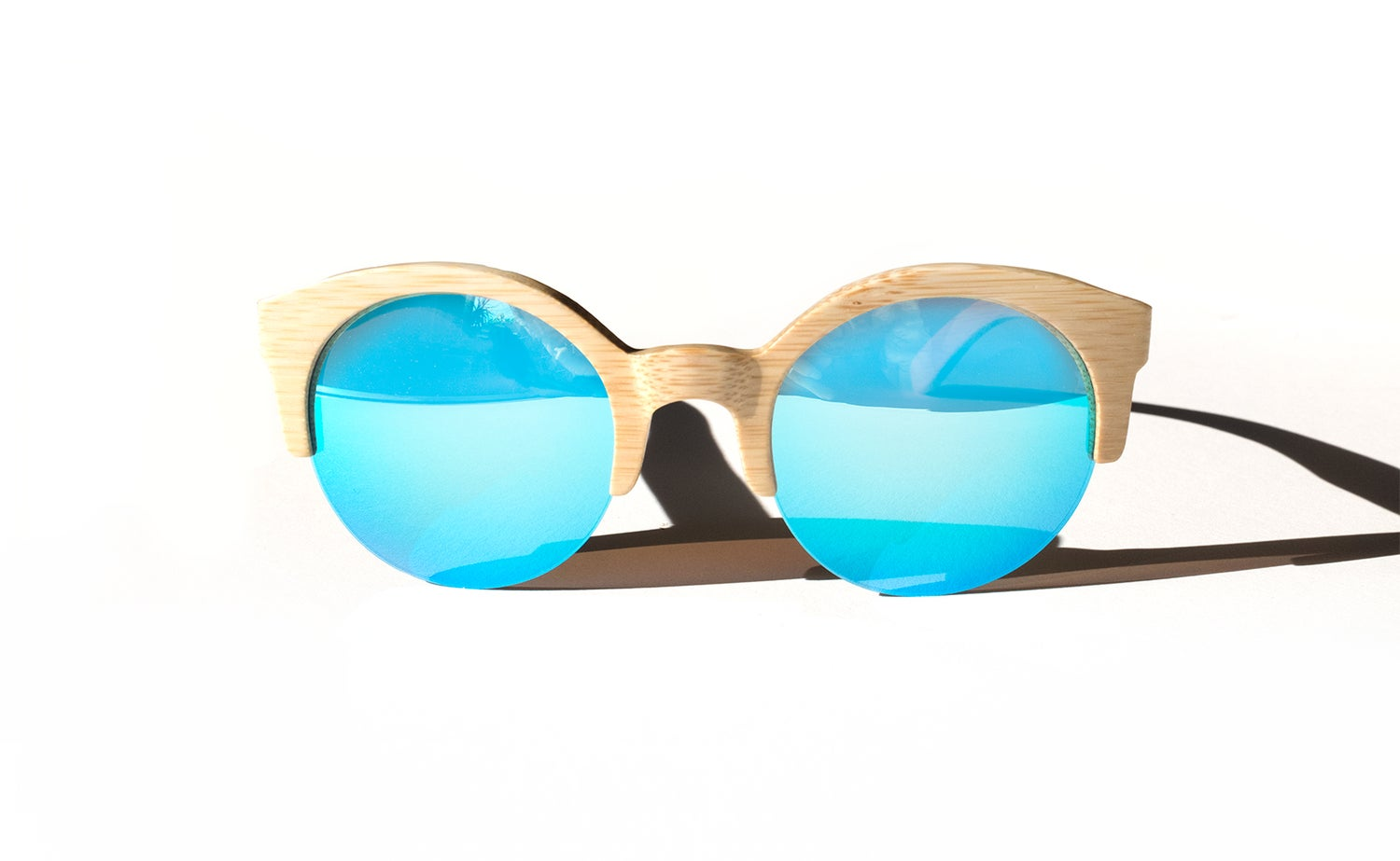 Image of MATA [ natural bamboo + ice blue ]