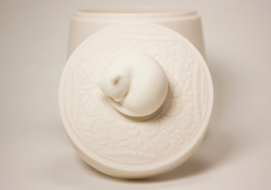 Image of Porcelain Pet Urn - Now Available at LongLoveMemorials.com