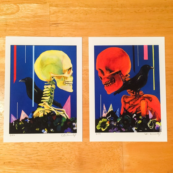 "Image of ""My Partner The Legend I & II"" Giclee Fine Art Print Set  5.5""x7.5"""
