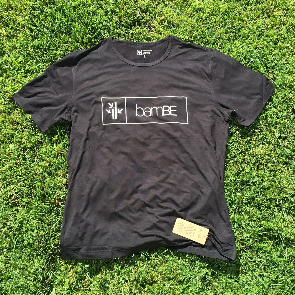 Image of Mens Black Logo Tee