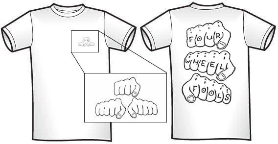 Image of Four Wheel Fools T-Shirt MEDIUM