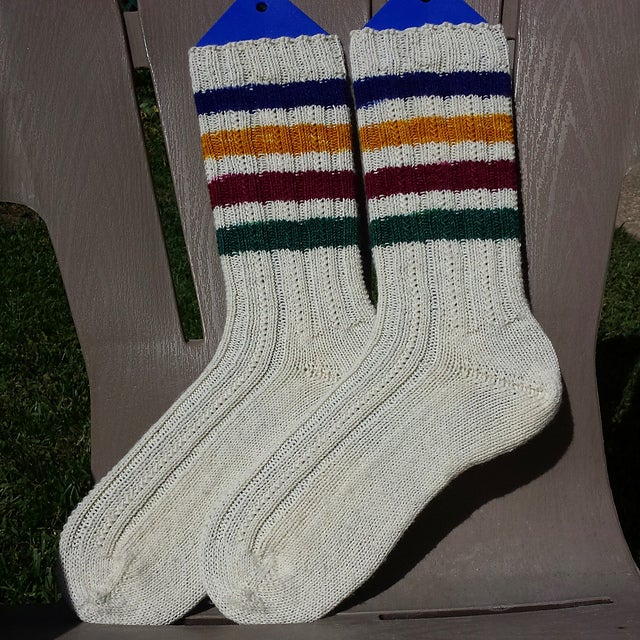 Image of Oops, a mistake! Canadiana: Superwash Boot Strap BFL fingering