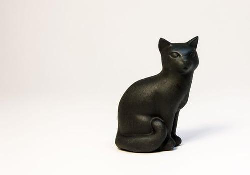 Image of Ceramic Cat Figurine, Smooth