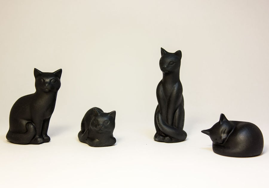 Image of Ceramic Cat Figurine, Smooth