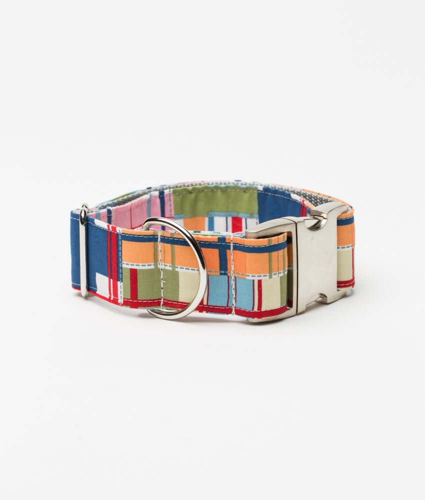 Madras Plaid - Dog Collar