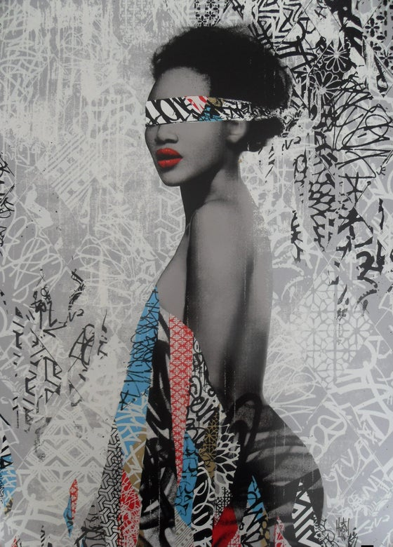"Image of HUSH ""NUBIAN PRINCESS"" 14 COLOUR SCREENPRINT - 75CM X 52CM"