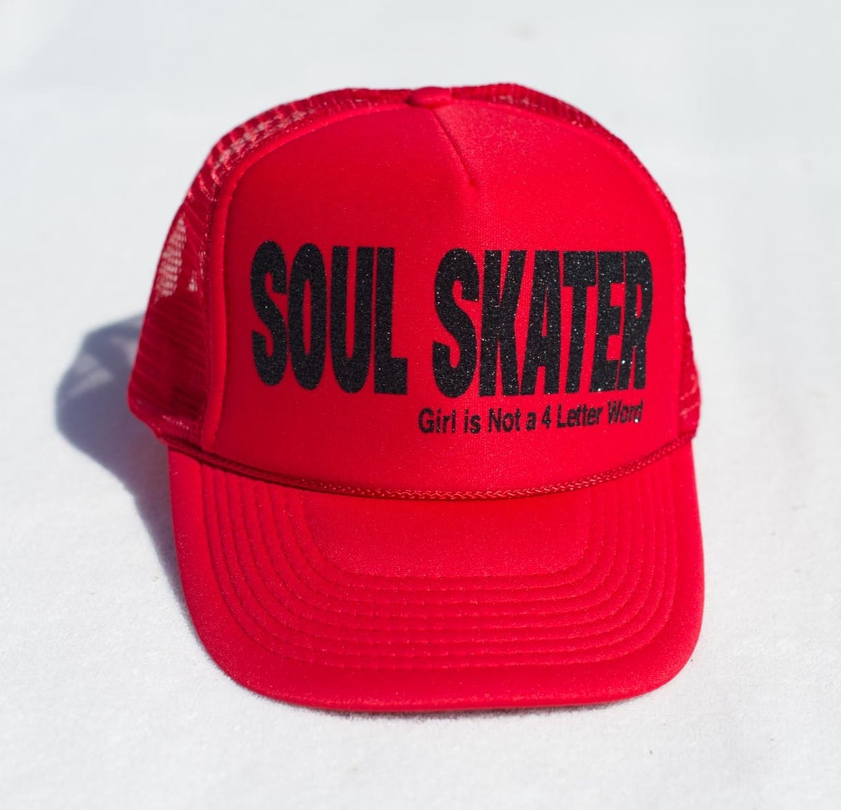 dfdbc70c1c4 Soul Skater Trucker Hat!   Girl is NOT a 4 Letter Word